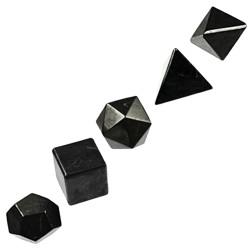 Solides de Platon en Obsidienne Noire