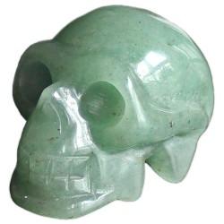 Crâne en Aventurine Verte