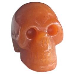 Crâne en Aventurine Rouge