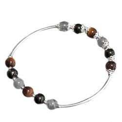 Bracelet 3 Pierres & Argent