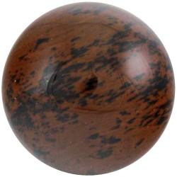 Sphère en Obsidienne Rouge