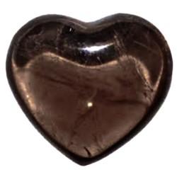 Coeur en Quartz Fumé