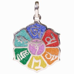 Pendentif Mantra 7 Chakras en Laiton