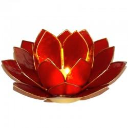 Photophore Lotus Rouge