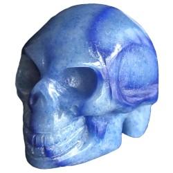 Crâne en Aventurine Bleue
