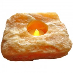 Photophore en Calcite Orange