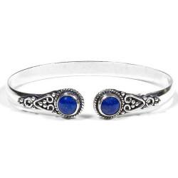 Bracelet en Laiton & Lapis-Lazuli