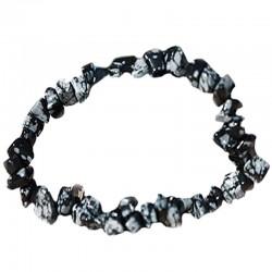 Bracelet Baroque en Obsidienne Neige
