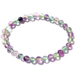 Bracelet Boules en Fluorite