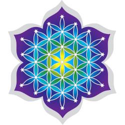 Sticker Fleur de Vie & Lotus