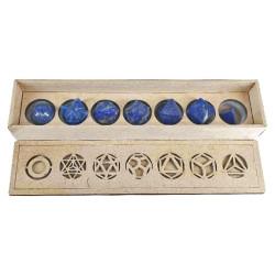 7 Solides de Platon en Lapis-Lazuli