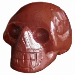 Crâne en Jaspe Rouge