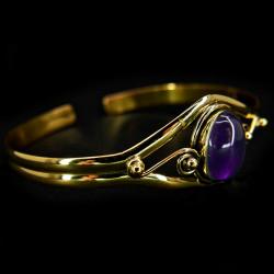 Bracelet en Bronze & Améthyste