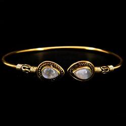 Bracelet en Bronze & Pierre de Lune
