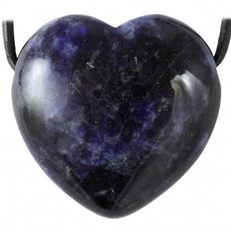 Pendentif Coeur en Sodalite
