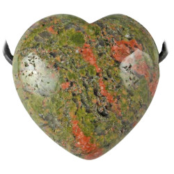 Pendentif Coeur en Unakite
