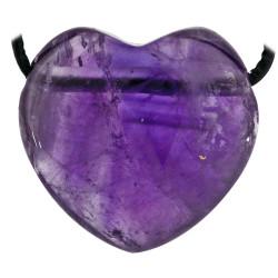 Pendentif Coeur en Améthyste
