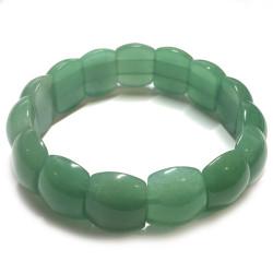 Bracelet Cabochons en Aventurine Verte
