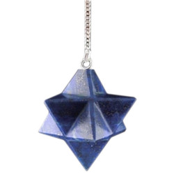 Pendule Merkaba en Lapis-Lazuli
