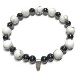 Bracelet Howlite & Hématite