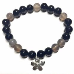 Bracelet en Agate & Onyx