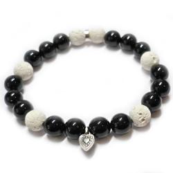 Bracelet en Basalte & Onyx