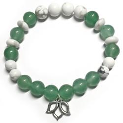 Bracelet en Aventurine Verte & Howlite