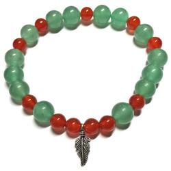Bracelet en Cornaline & Aventurine Verte