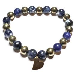 Bracelet en Pyrite & Sodalite