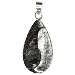 Pendentif Yin & Yang en Obsidienne Argentée