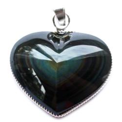 Pendentif Coeur en Obsidienne Oeil Céleste