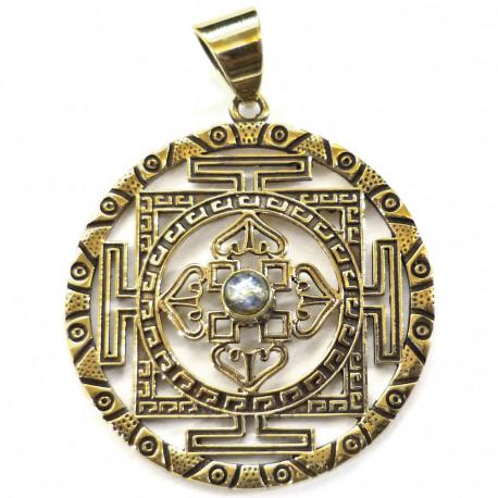 Pendentif Tibétain en Bronze