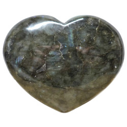 Coeur en Labradorite