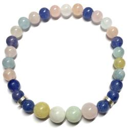 Bracelet en Béryl & Aventurine Bleue