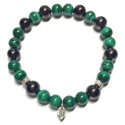 Bracelet en Shungite & Malachite