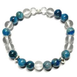 Bracelet Apatite & Cristal de Roche