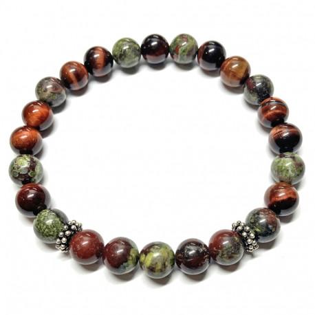 Bracelet Boules Oeil de Taureau & Dragon Stone