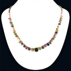 Collier en Tourmaline Multicolore