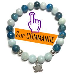 Bracelet en Aigue Marine & Apatite