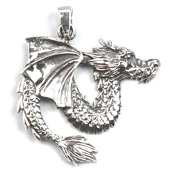 Pendentif Dragon en Argent