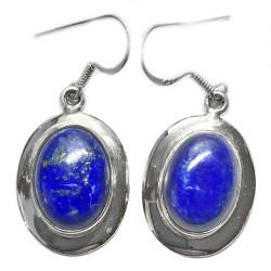 Boucles d'Oreilles en Lapis-Lazuli & Argent