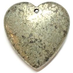 Pendentif Coeur en Pyrite