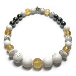 Bracelet Boules 3 Pierres.