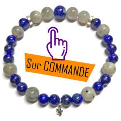 Bracelet en Labradorite & Lapis-Lazuli