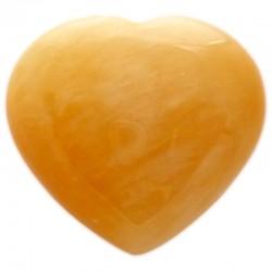 Coeur en Calcite Jaune