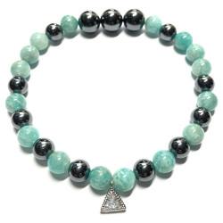 Bracelet Amazonite & Hématite