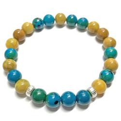Bracelet en Jaspe Opale & Chrysocolle