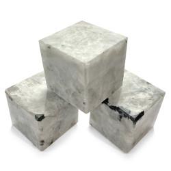 Cube en Pierre de Lune Blanche