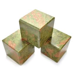 Cube en Unakite