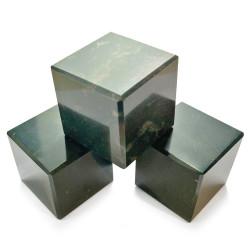 Cube en Jaspe Héliotrope